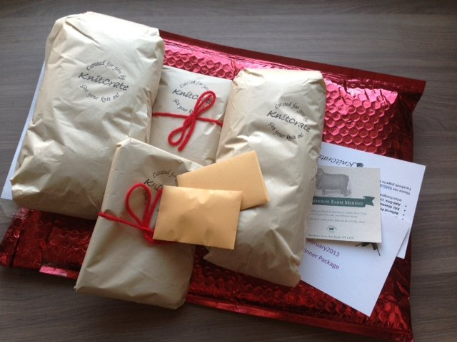 Knit Crate Review - February 2013 - Monthly Craft Subscription Boxes