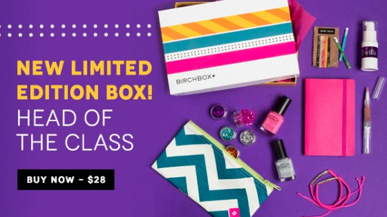 New Limited Edition Birchbox: Head of the Class