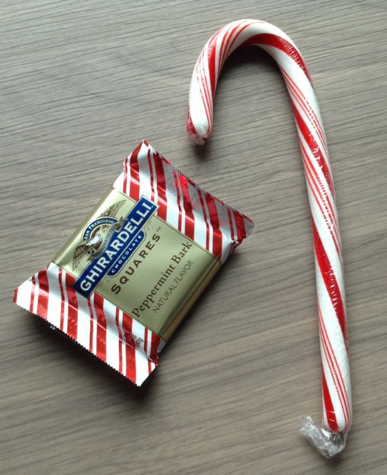 Doteable College Subscription Box Review - Dec 2013 Candy Cane Chocolate