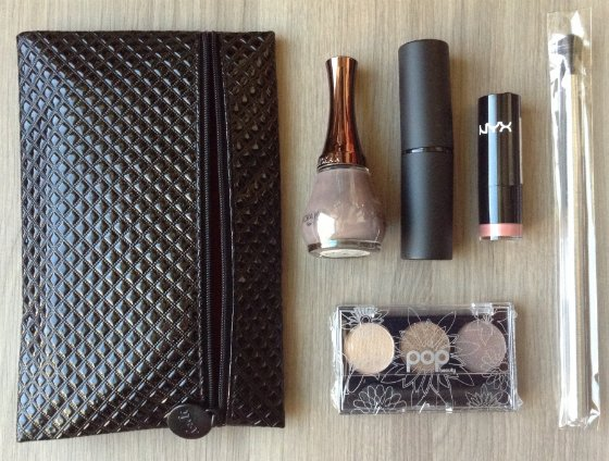 ipsy bag and beauty items for December 2013