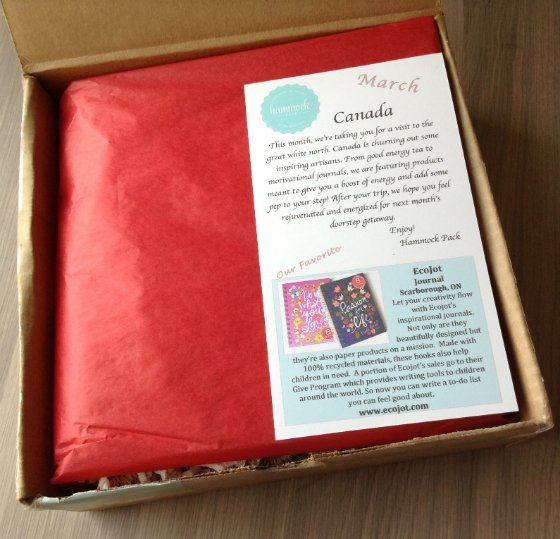 Hammock Pack Subscription Box Review - March 2014 Box