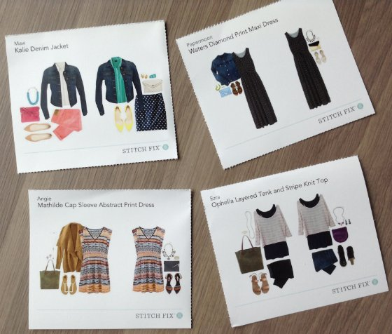 Stitch Fix Review - March 2014 Cards