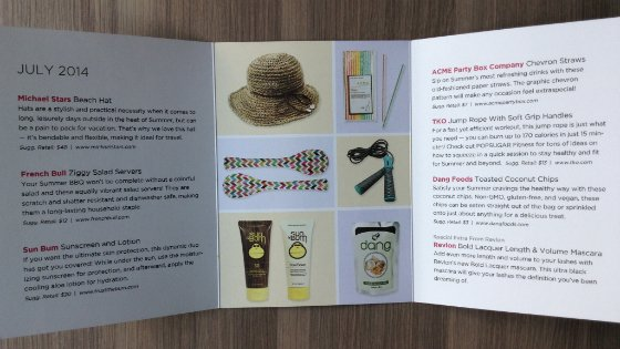 POPSUGAR Must Have July 2014 Review & Coupon Info