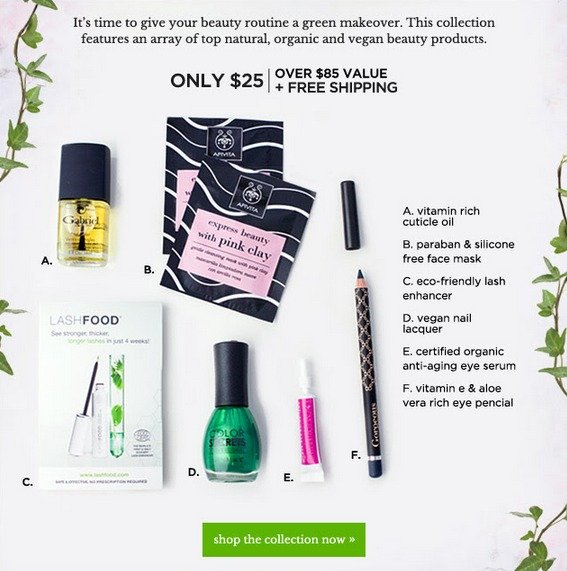 New Total Beauty Go Green Collection & Coupon Code! Items