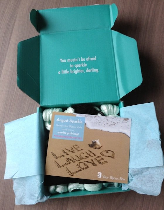 Your Bijoux Box Jewelry Subscription Box Review – August 2014 Box