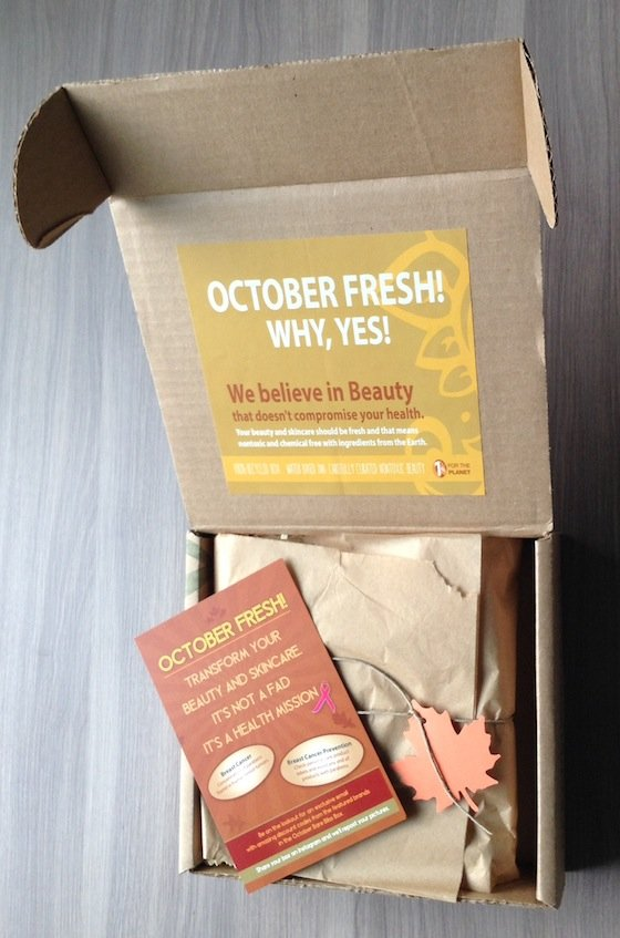 Bare Bliss Box Subscription Review – October 2014  Box