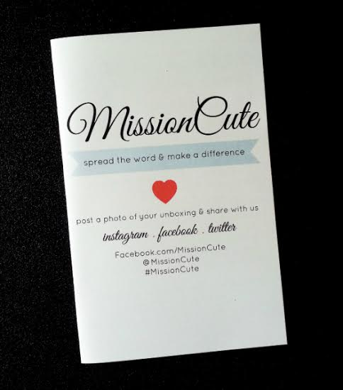 Mission Cute Subscription Box Review – October 2014 Card