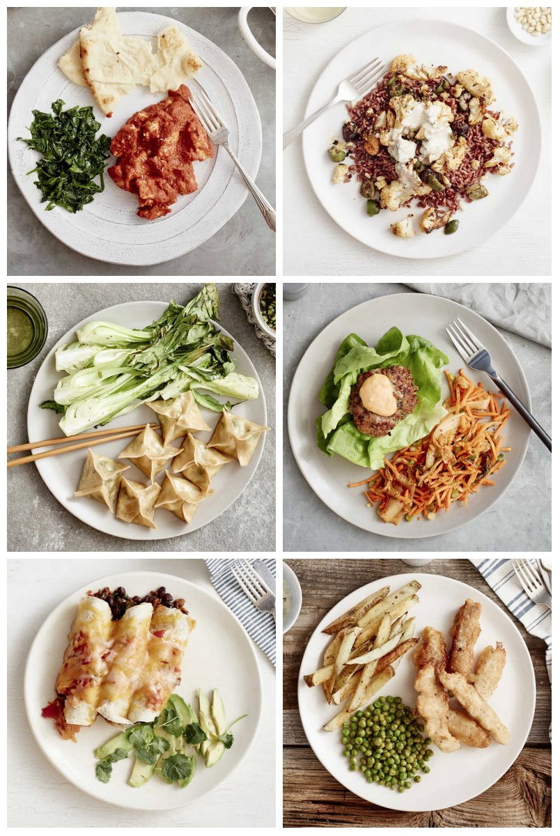 Plated Menu Items for 4/8