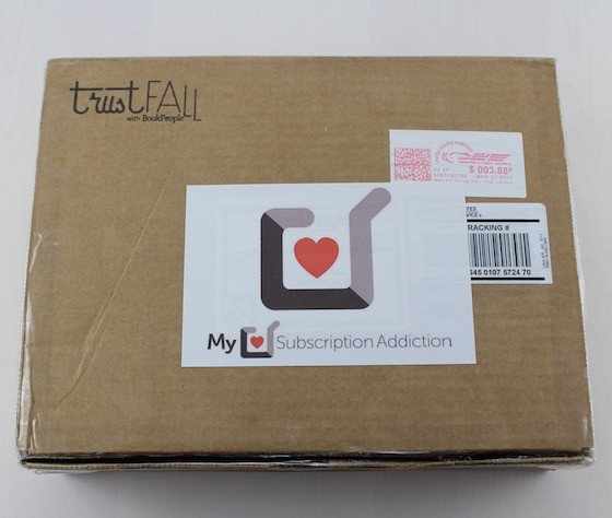 Book People Trust Fall Subscription Box Review – March 2015 Box