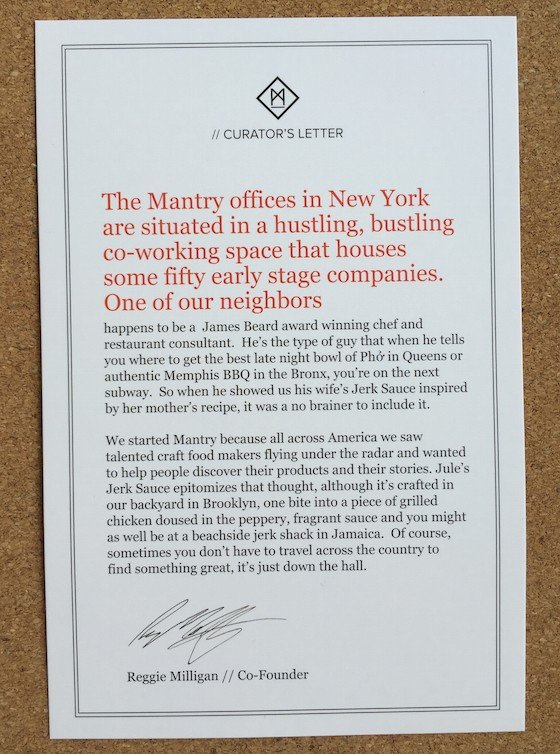 Mantry Subscription Box Review & Coupon – May 2015 Curator