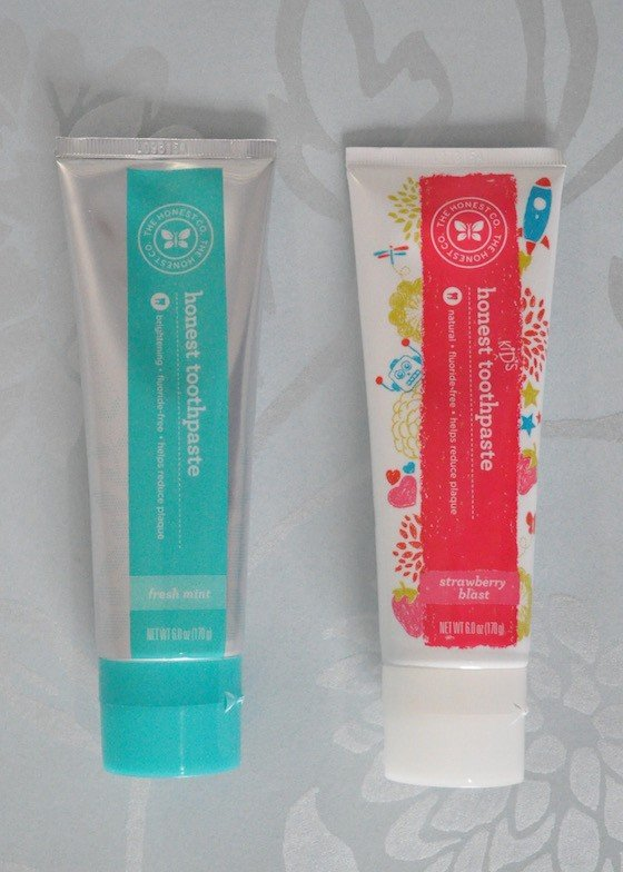 Honest Company Essentials Bundle Review – July 2015 - toothpaste opened