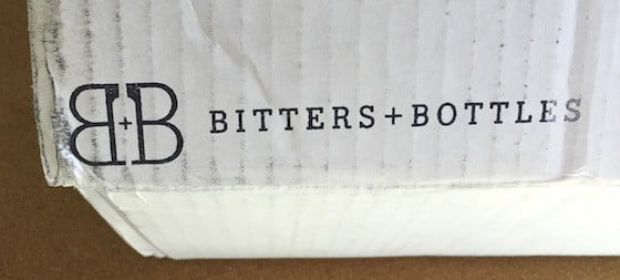Bitters + Bottles Subscription Box Review - August 2015 - Box