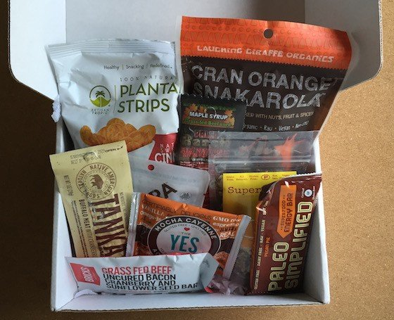 Paleo Life Box Subscription Box Review August 2015 - Contents