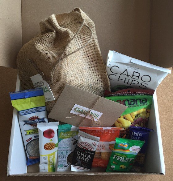 Snack Sack Subscription Box Review August 2015 - Contents
