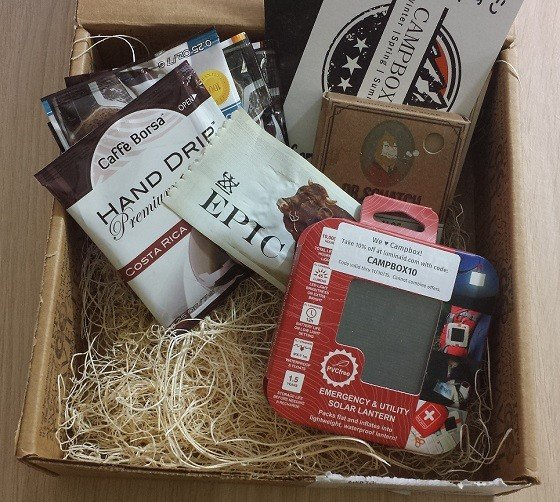 Campbox Company Subscription Box Review October 2015 - inside