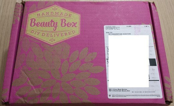 Handmade Beauty Box Subscription Box Review September 2015 - box