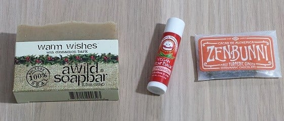 Mindfulness Box Subscription Box Review October 2015 - soap-balm-chocolate