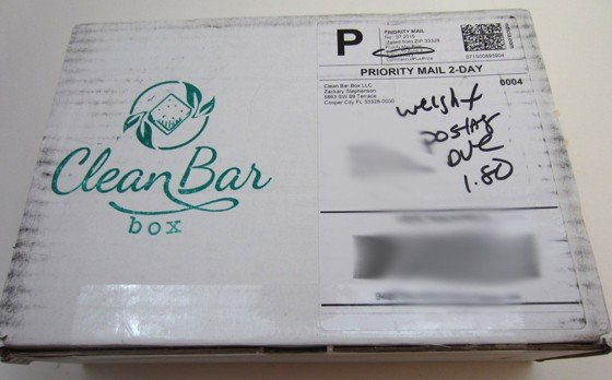 Clean Bar Box Subscription Box Review November 2015 - box