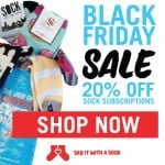 Say it with a Sock Black Friday Deal – 20% Off Subscriptions!