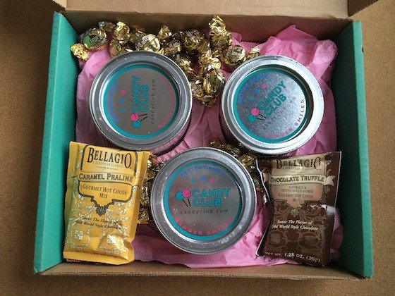 Candy Club Subscription Box Review + Coupon November 2015 - Contents