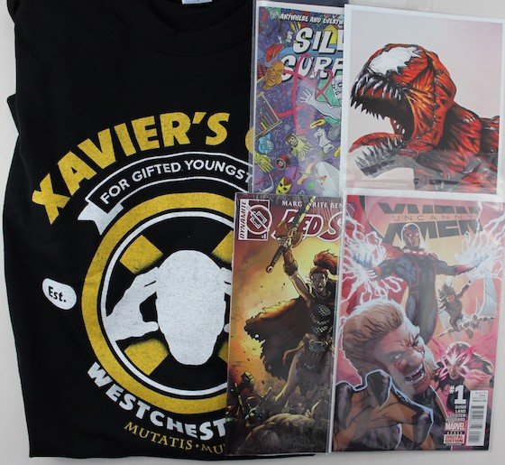 Comic Block Subscription Box Review + Coupon January 2016 - all items