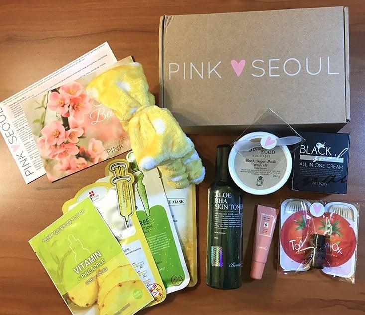 PinkSeoul-Plus-Box-March-April-2016-Contents