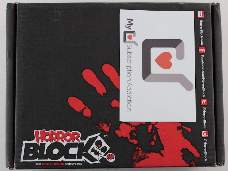 Horror Block Subscription Box Review + Coupon April 2016 - box