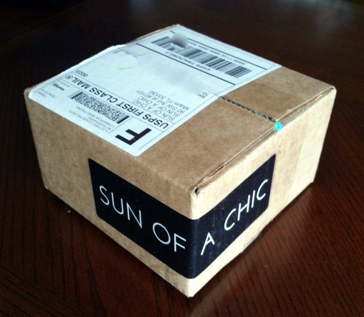 SUN OF A CHIC 1 PAIR AND JEWELRY REVIEW MAY 2016 - box