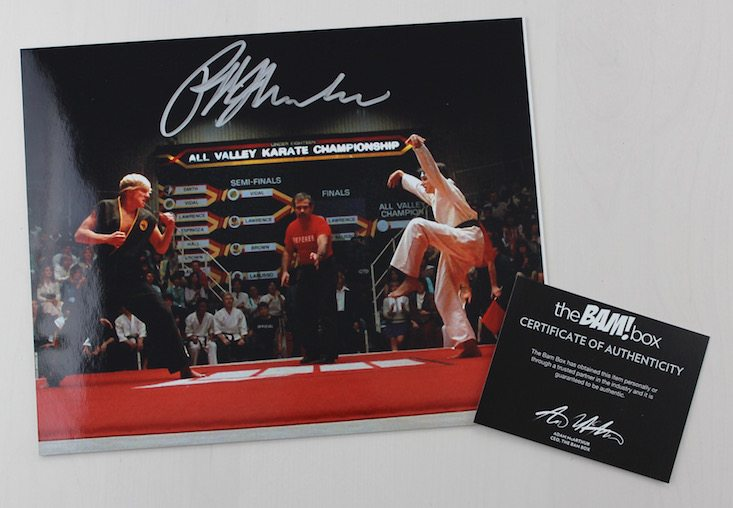 The BAM! Box Subscription Box Review + Coupon June 2016 - Karate Kid autograph