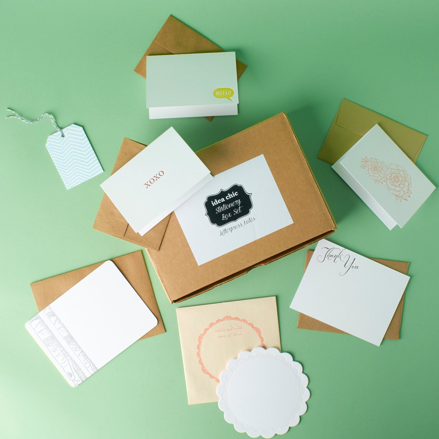 Read our review of the December Idea Chic Stationery Box!