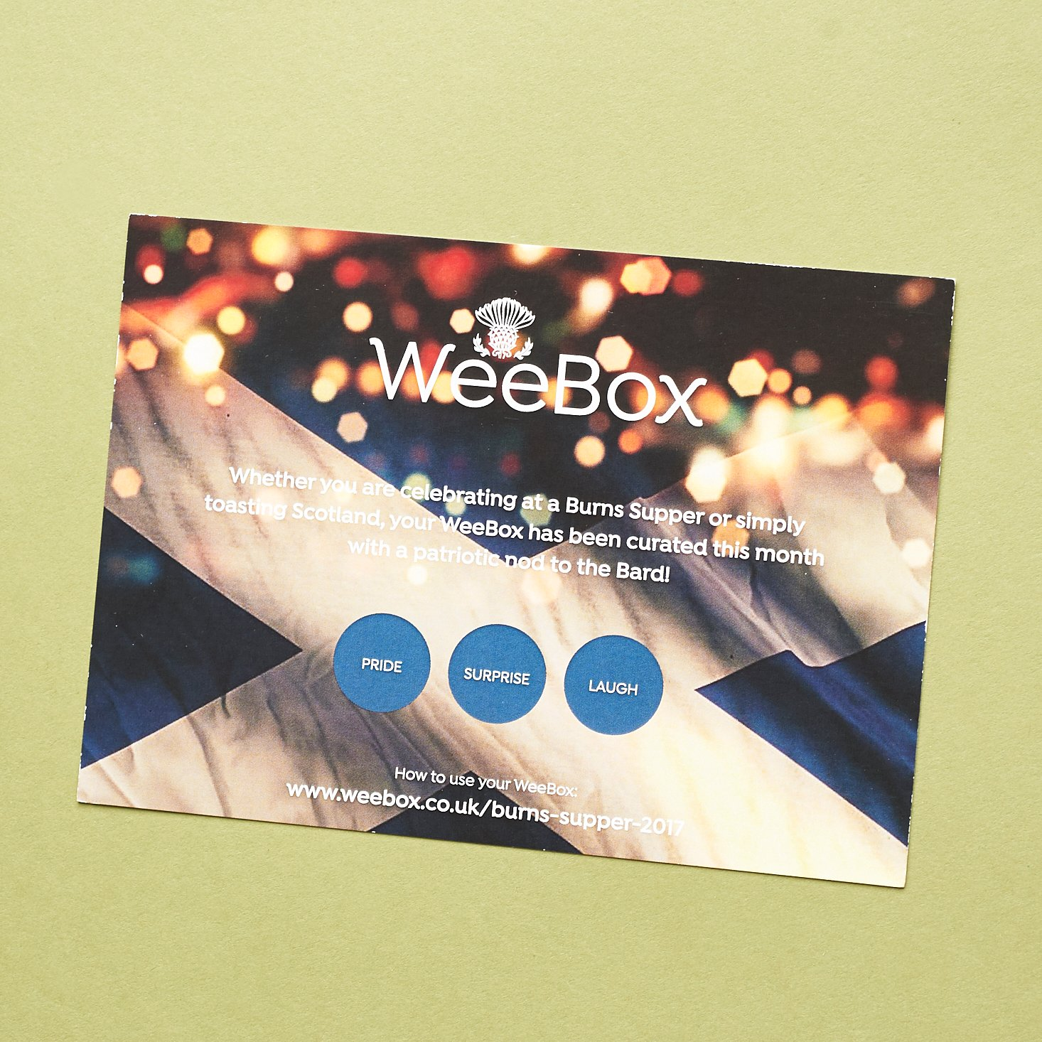 Read our review of the January 2017 Wee Box!