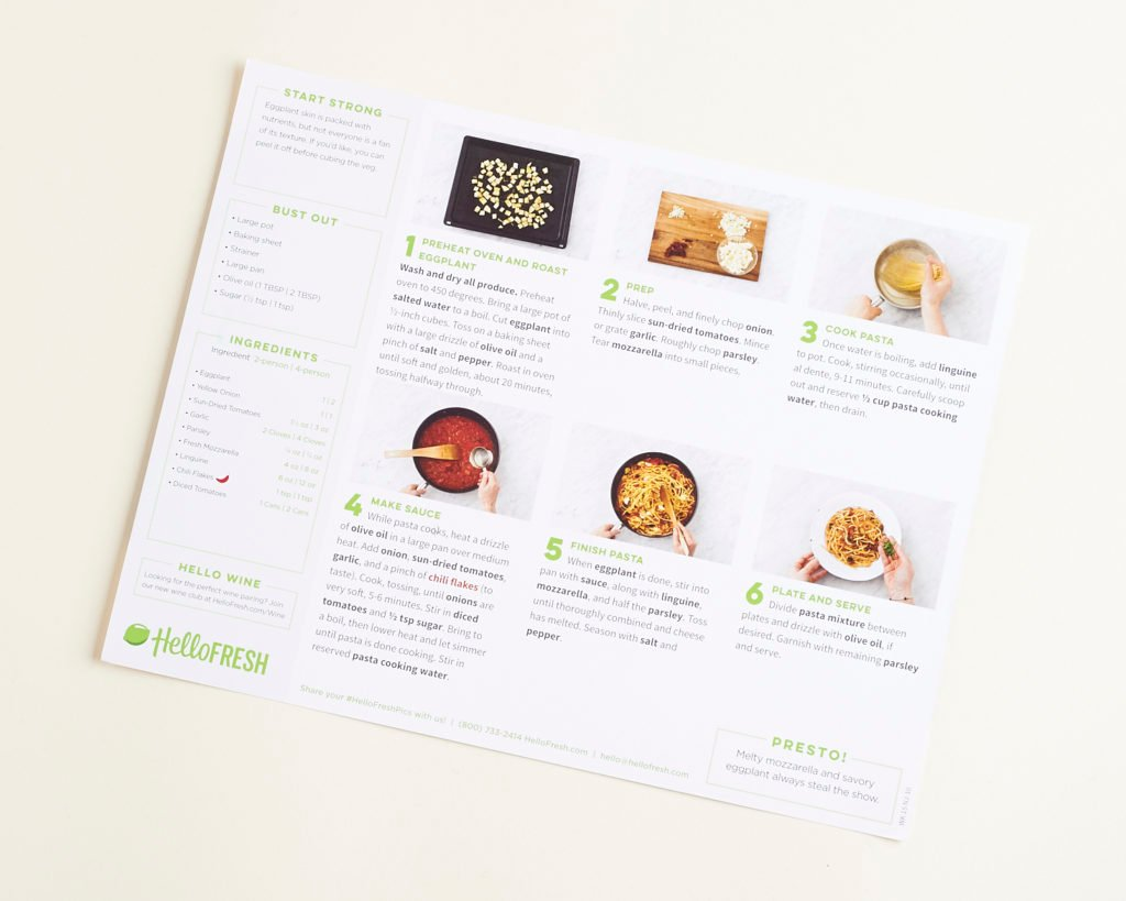 See what's cooking in this month's review of Hello Fresh!