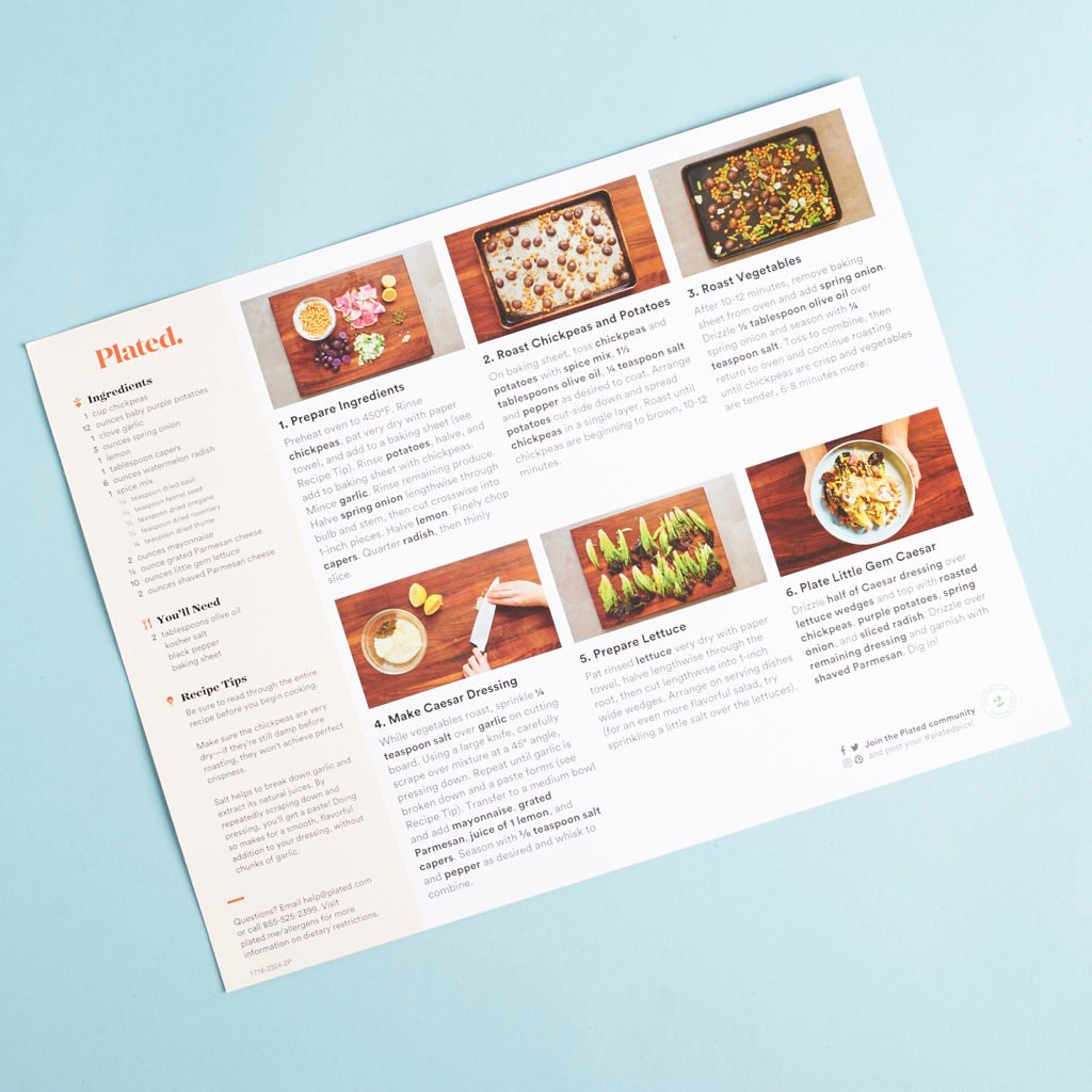 Check out our review of Plated for April 2017!