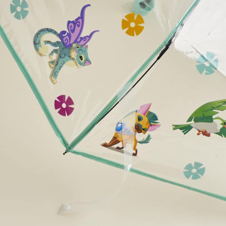 Animal Jam May 2017 Subscription Box: Detail of umbrella showing various animals and flowers