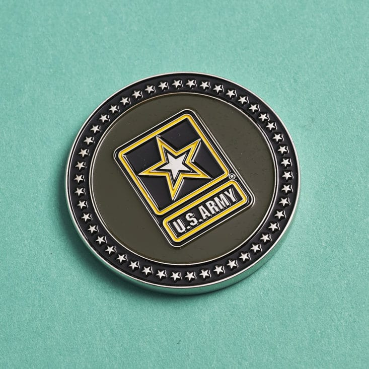 Valor Blocks - May 2017 - U.S. Army challenge coin more detial