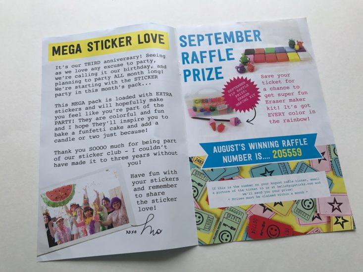 Pipsticks September 2017 Kids Stickers Subscription Box
