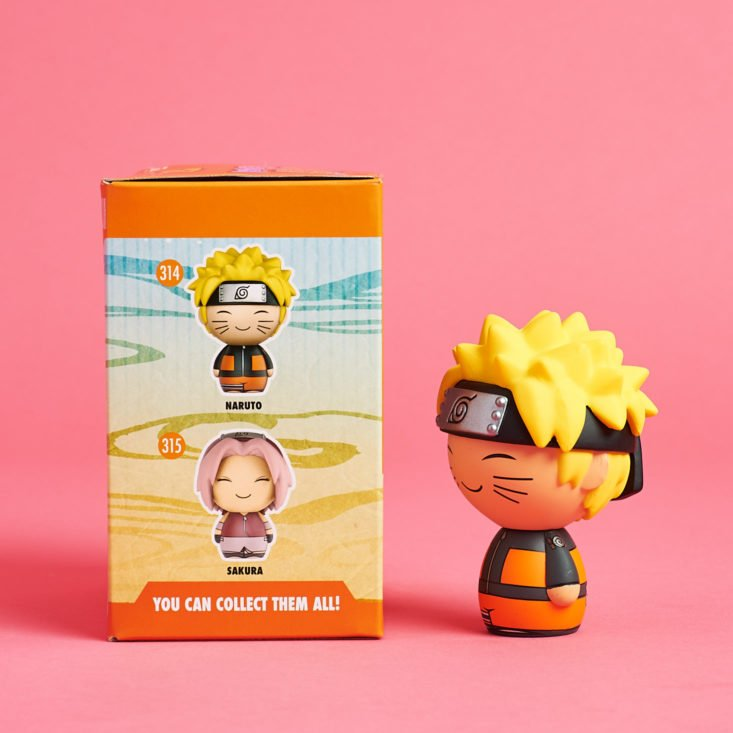 "See the Naruto & Full Metal Alchemist items in the ""Combat"" Akibento box!"