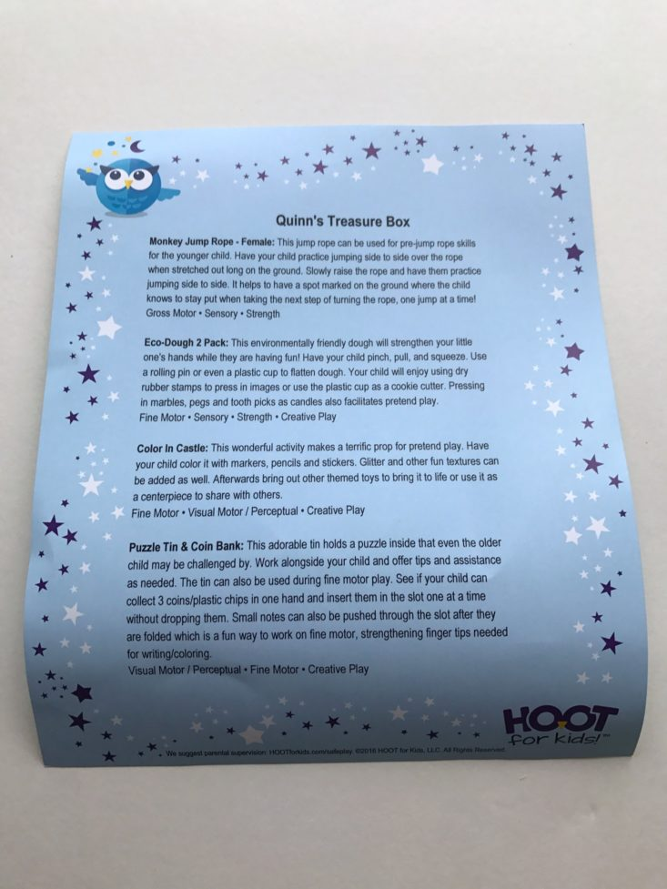 Hoot for Kids October 2017 Subscription Box