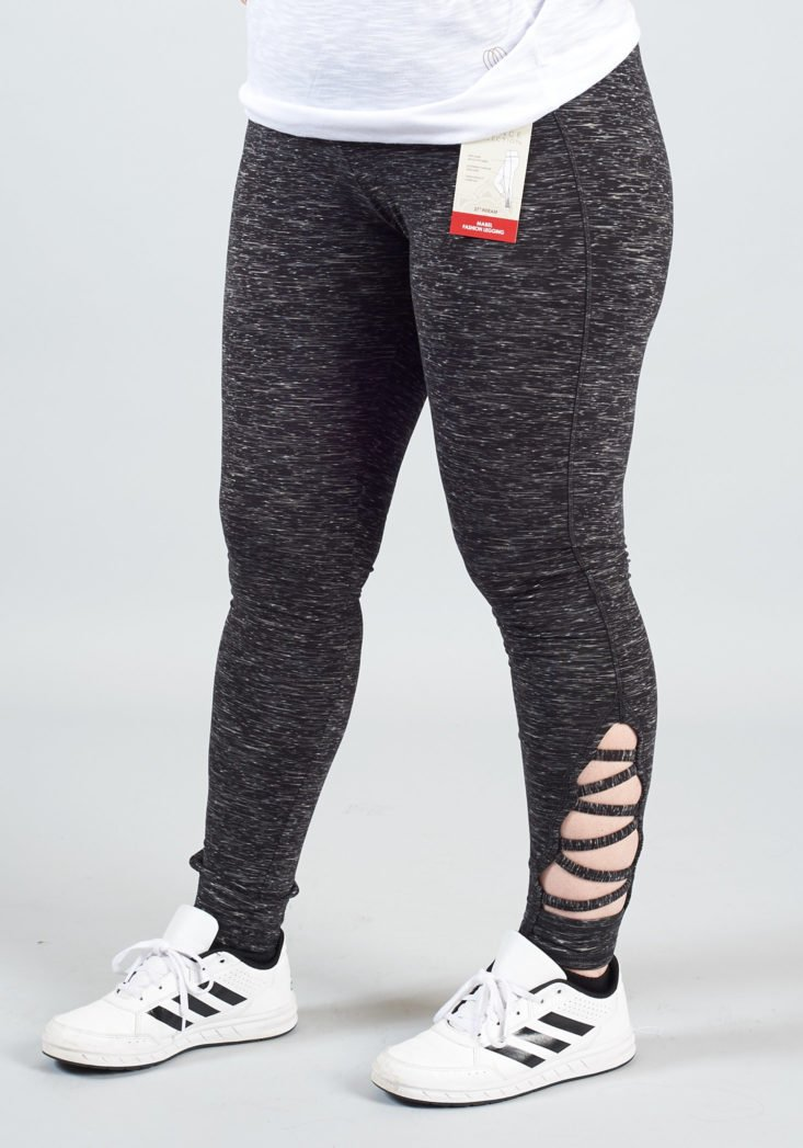 gray leggings with strappy ankle details from ellie november 2017