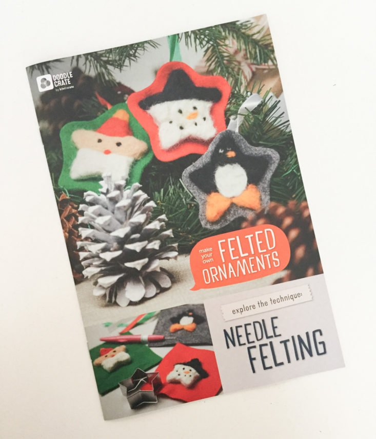 doodle crate felted ornaments holiday 2017 booklet