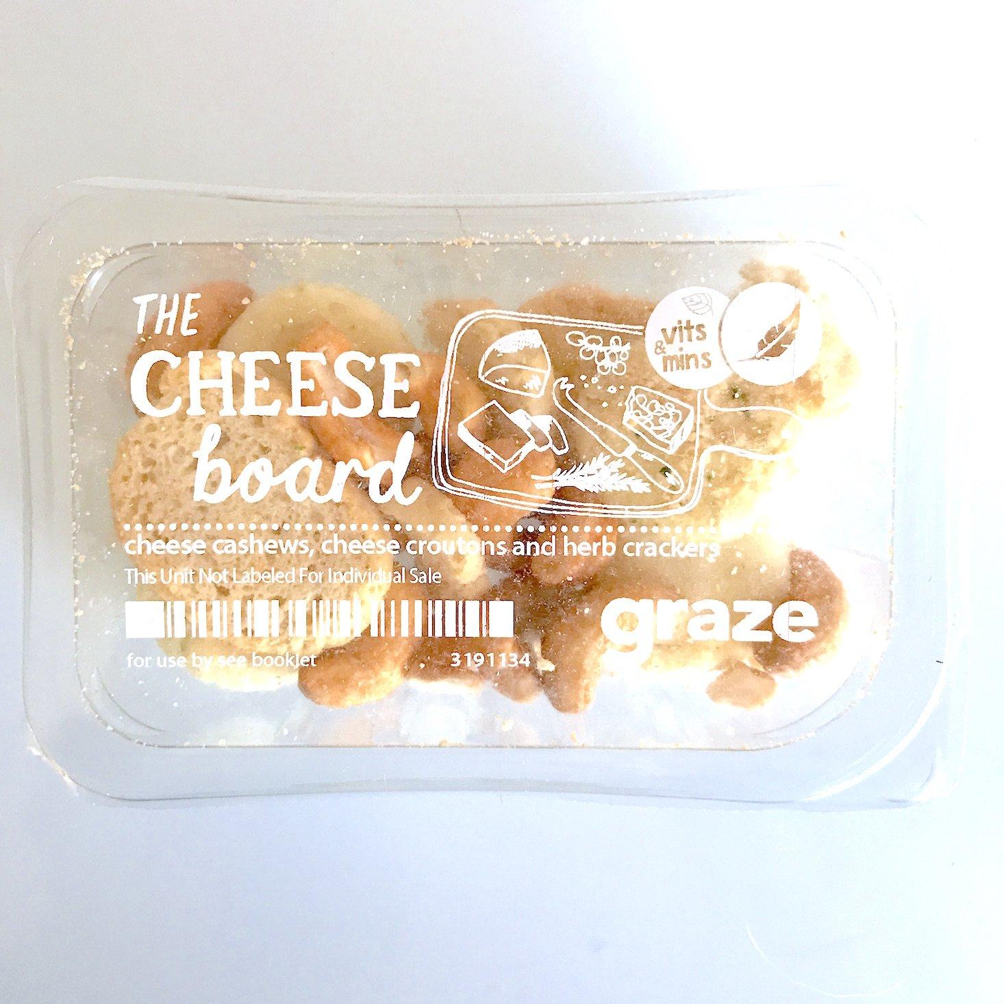 Graze January 2018 - cheese board