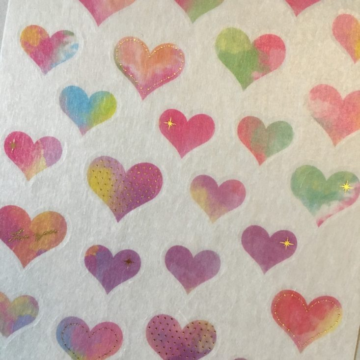 watercolor heart stickers from Sticky Kit February 2018