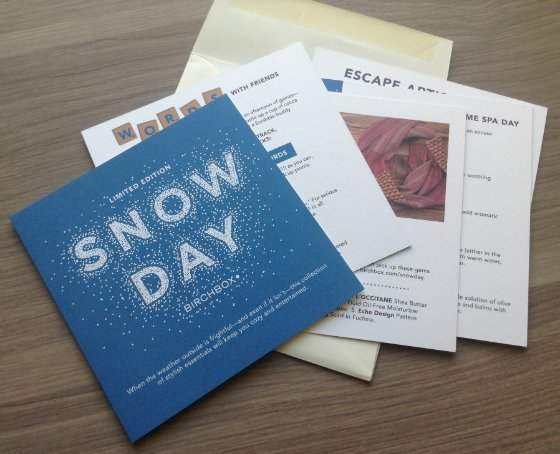 Birchbox Snow Day Limited Edition Box Review