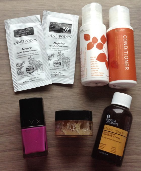 Vegan Cuts Beauty Box Subscription Review - March 2014 Items