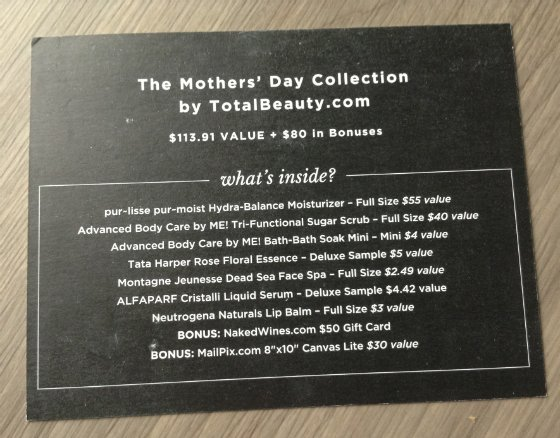 Total Beauty Mother's Day Collection Review & Coupon Card