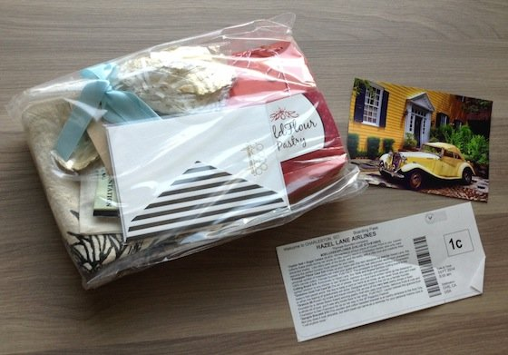 Hazel Lane Deluxe City Subscription Box Review – Sept 2014 FIrst Look