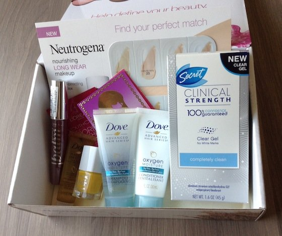 Walmart Beauty Box Subscription Review - Fall 2014 Items