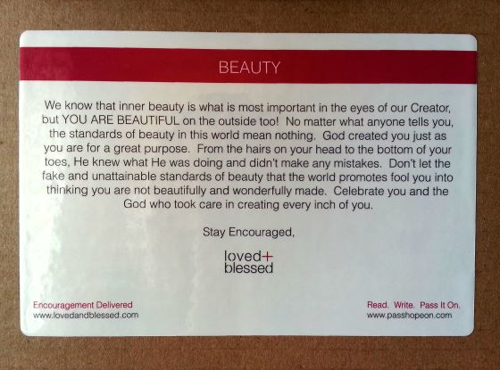 Love + Blessed Subscription Box Review - October 2014 Beauty