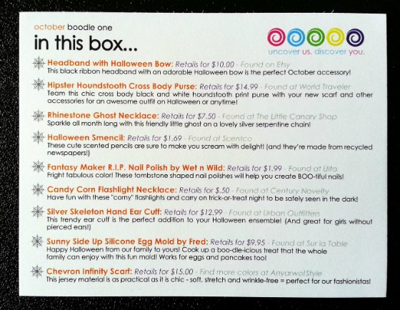The Boodle Box Subscription Box Review - October 2014 Info