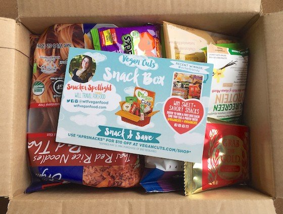 Vegan Cuts Snack Box Subscription Review – April 2015 Inside